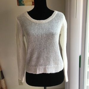 Divided H&M Off-White Open Knit Sweater Sz 4